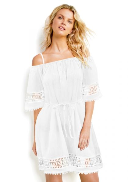 Seafolly Lace Hem Smock Dress