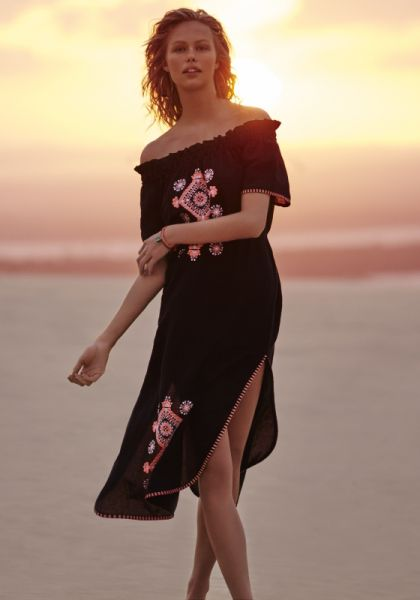 Seafolly Off Shoulder Embroidered Dress