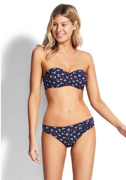 Seafolly Mix Up Bandeau Bustier Bikini