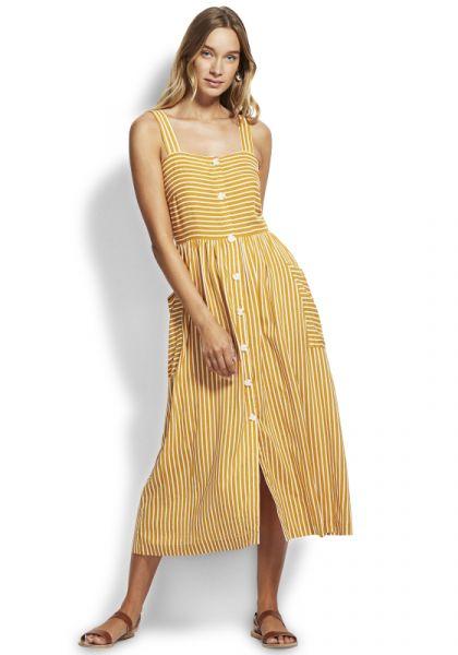 Seafolly Strip Slip Dress Amber