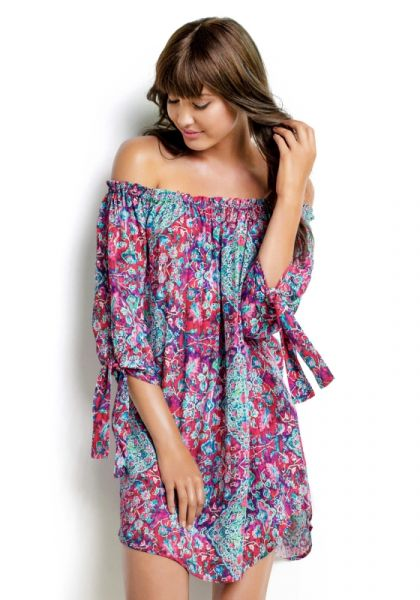 Seafolly Tapestry Off Shoulder Dress