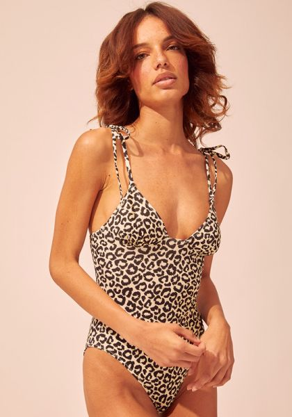 Solid & Striped Olympia Leopard Swimsuit