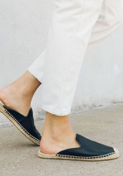 Soludos Tumbled Leather Espadrilles