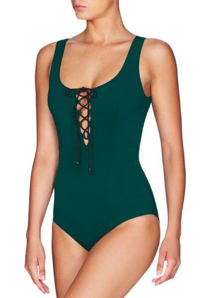 Stella McCartney Botanical Lace Up Swimsuit