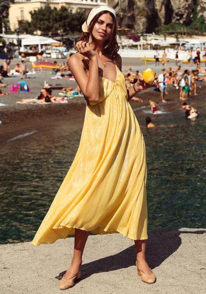 Alba Long Dress Marbella Yellow