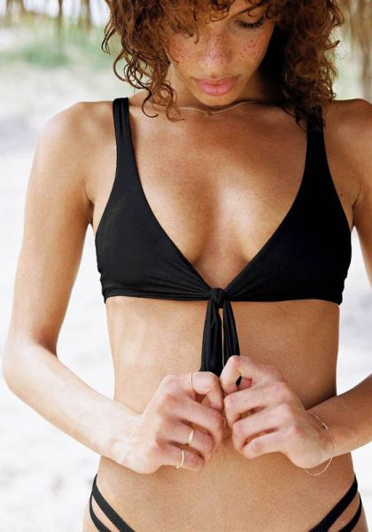 Vitamin A Lou Bikini Black