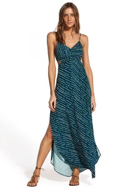 Vix Swimwear Ventana Ocean Cut Out Dress