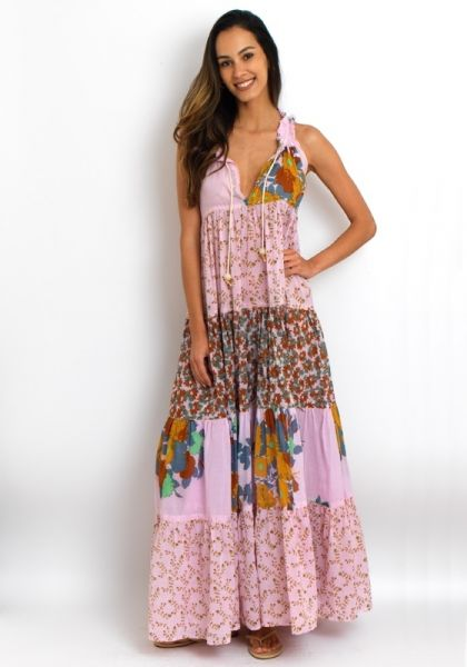 Yvonne S Sleeveless Hippy Dress Rose