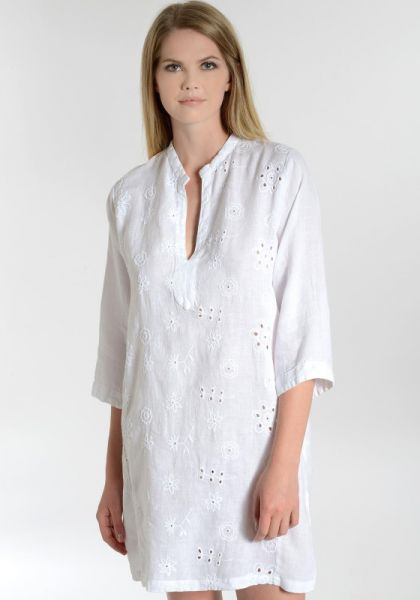 Embroidered Tunic White