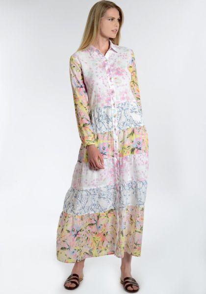 Patchwork Floral Print Dress