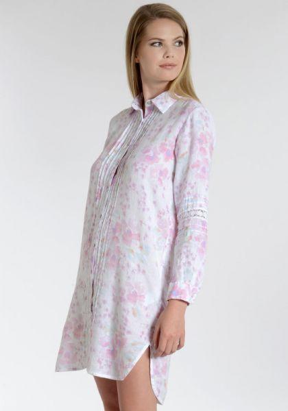 Shirt Dress White Floral Print