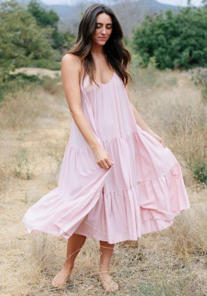 9 Seed Condessa Dress Dusty Rose