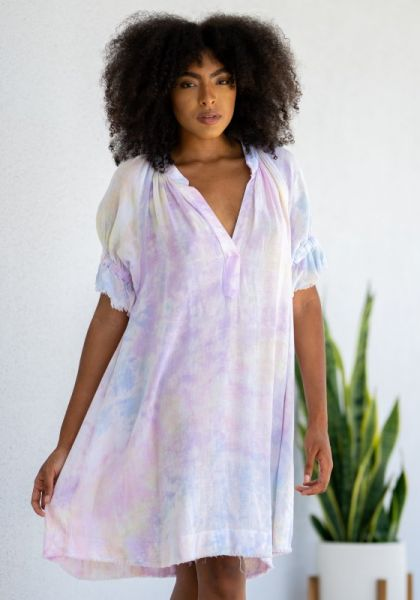 9Seed Antibes Dress Pastel Tie Dye