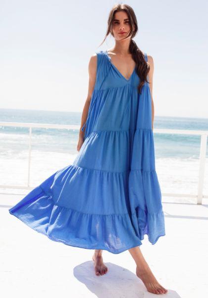 Light House Beach Dress Blue