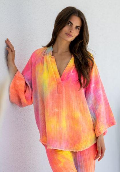 9Seed Marrakesh Top Neon Tie Dye