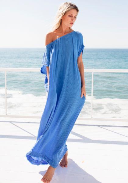 Moonstone Dress Moroccan Blue