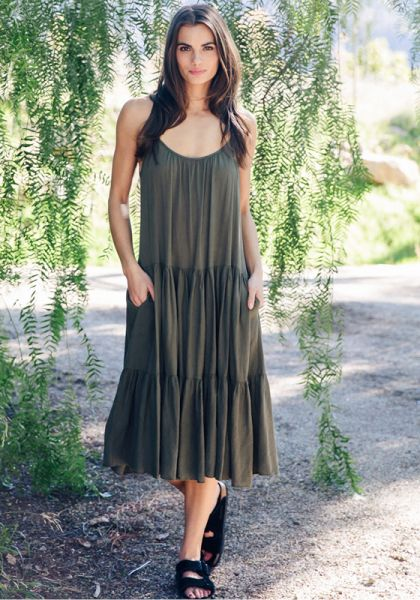 9Seed Condessa Dress Military Green