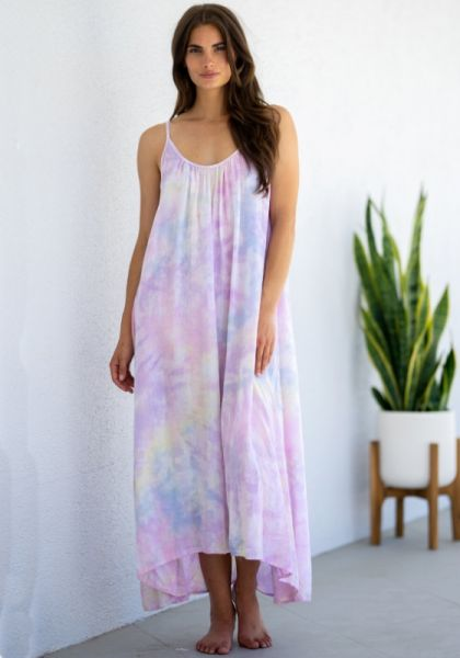 Tulum Dress Pastel Tie Dye