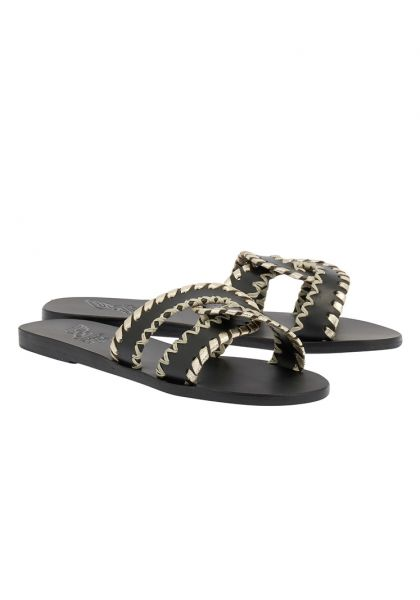 Ancient Greek Sandals Desmos Stitch Sandals Black/Platinum