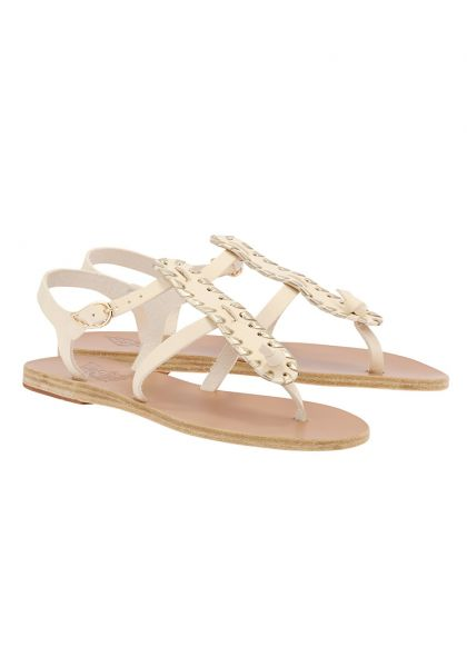 Ancient Greek Erianna Sandals Off White/Platinum