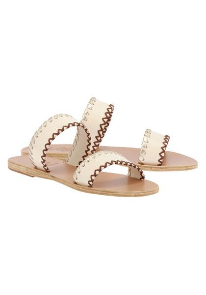 Ancient Greek Melia Sandals Off White/Platinum