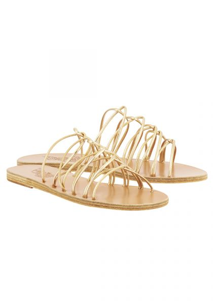 Ancient Greek Rodopi Platinum Sandals