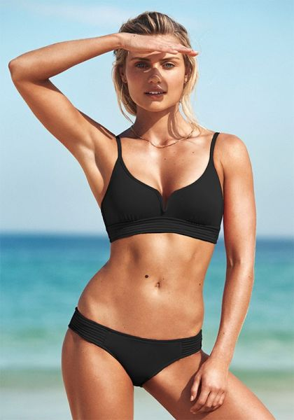 black quilted bikini