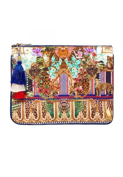 Camilla Champagne Small Canvas Clutch