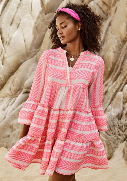Devotion Ella Dress Neon Pink