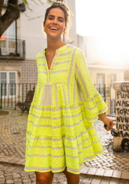 Devotion Ella Dress Neon Yellow