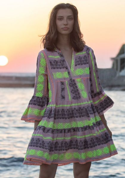 Devotion Ella Dress Pink Lime