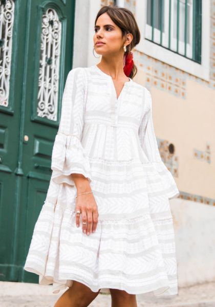 Devotion Ella Midi Dress White