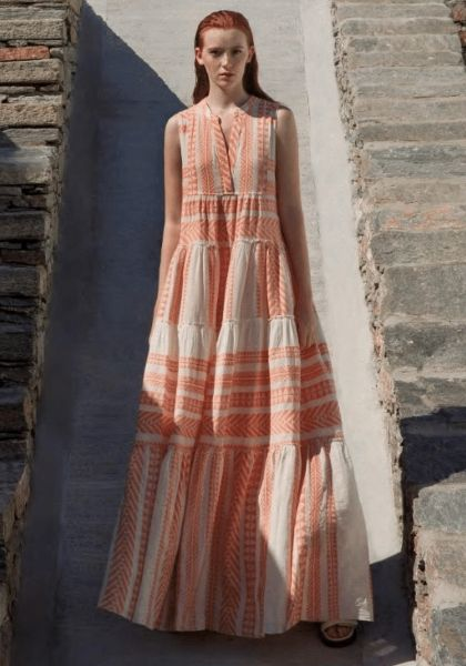 Devotion Long Ella Dress Neon Orange