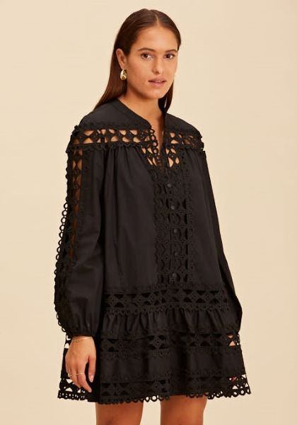 Devotion Short Lace Dress Black