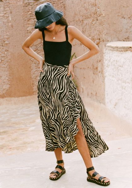 Faithfull The Brand Jasper Midi Skirt
