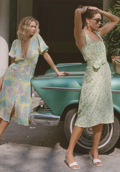 Faithfull The Brand Mae Midi Dress