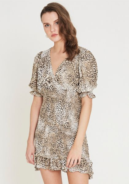 Faithfull The Brand Margherita Mini Dress Animal Print