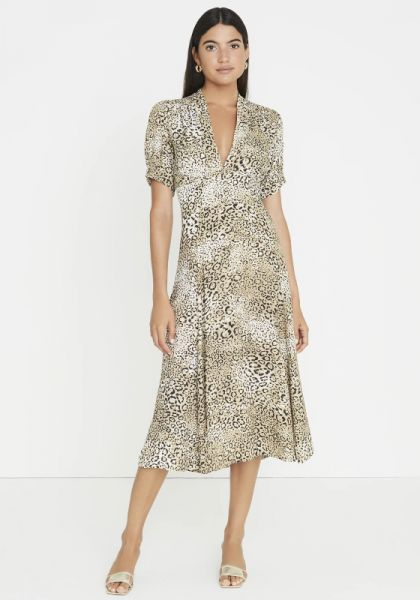 Meadows Midi Dress Animal Print