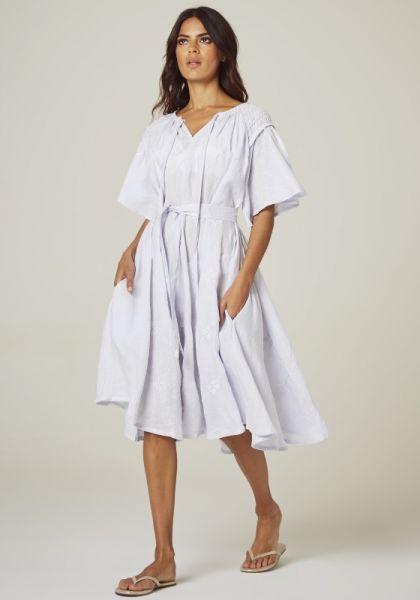 Innika Choo Midi Smock Dress Lilac Blue