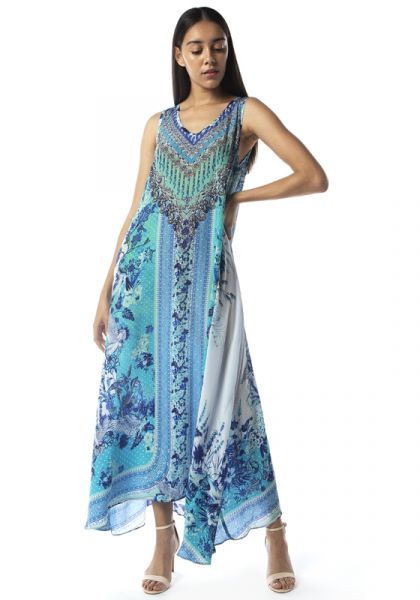 Cataline Azuro Flowing Maxi Dress