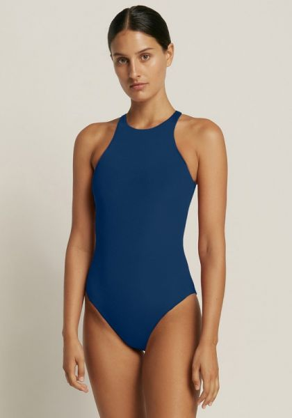 Azure High Neck Swimsuit Reef