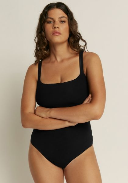 Jets Jetset Wide Strap Tank Swimsuit Black
