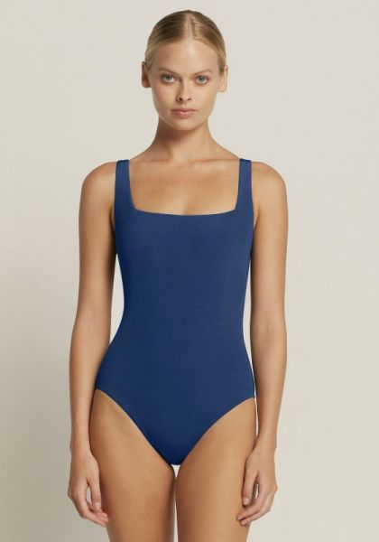 Azure Square Neck Swimsuit Reef