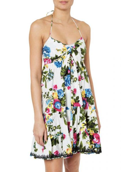 Bow Tie Front Dress Floral Print