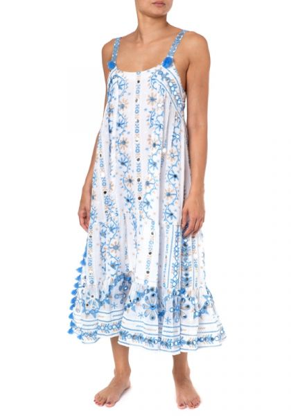 Juliet Dunn Cotton Nomad Long Dress