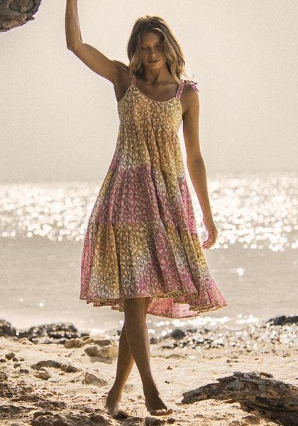 Juliet Dunn Snow Leopard 70s Midi Dress
