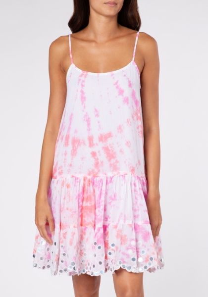 Juliet Dunn Strappy Tie Dye Dress