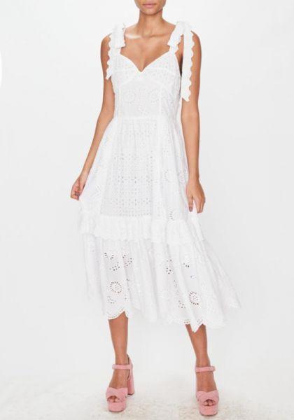 LoveShackFancy Antonella Dress White