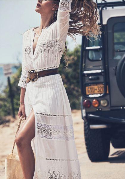 LoveShackFancy Beth Dress White