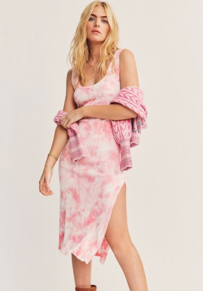LoveShackFancy Citra Midi Dress Pink
